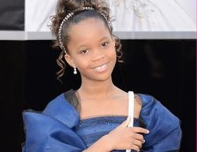 Quvenzhané Wallis at the Oscars 2013 – A Princess in Royal Blue