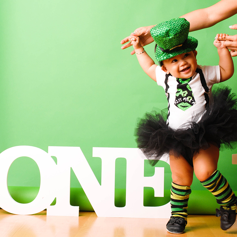 Looking Back at LD's First Birthday – A Tiny St. Patrick's Day Leprechaun