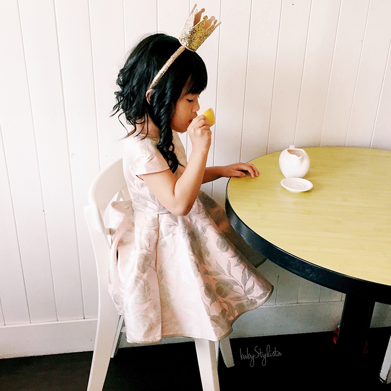 Alivia Simone Floral Jacquard Dress :: Time for a Princess Tea Party