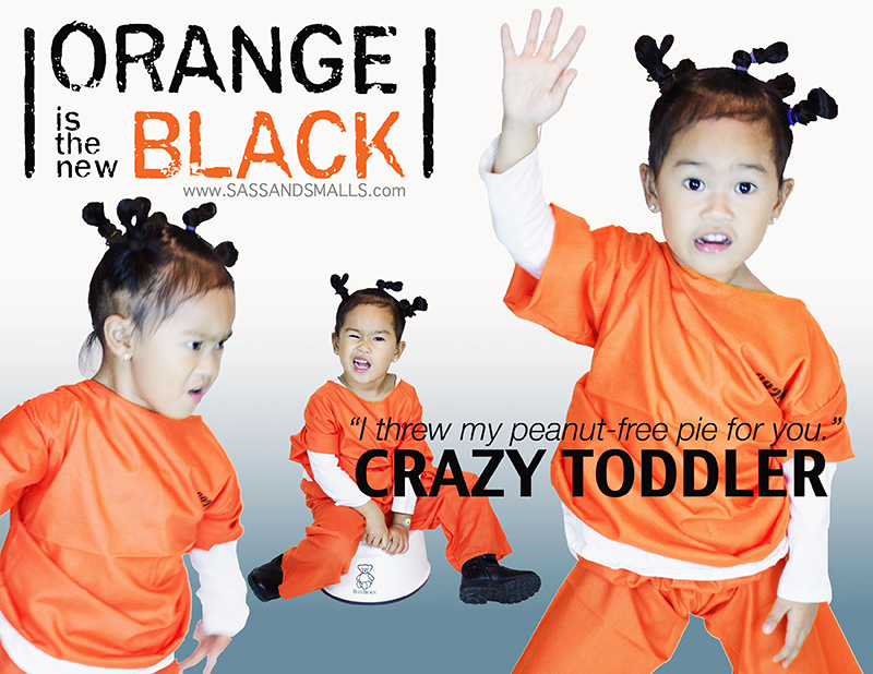 Halloween 2014 - Orange is the New Black Crazy Toddler Fam-o-ween 2017