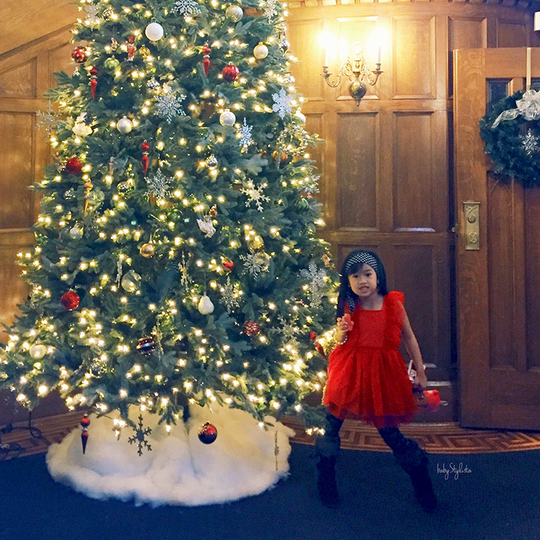 Little Lady in Red :: Christmas at the Castle