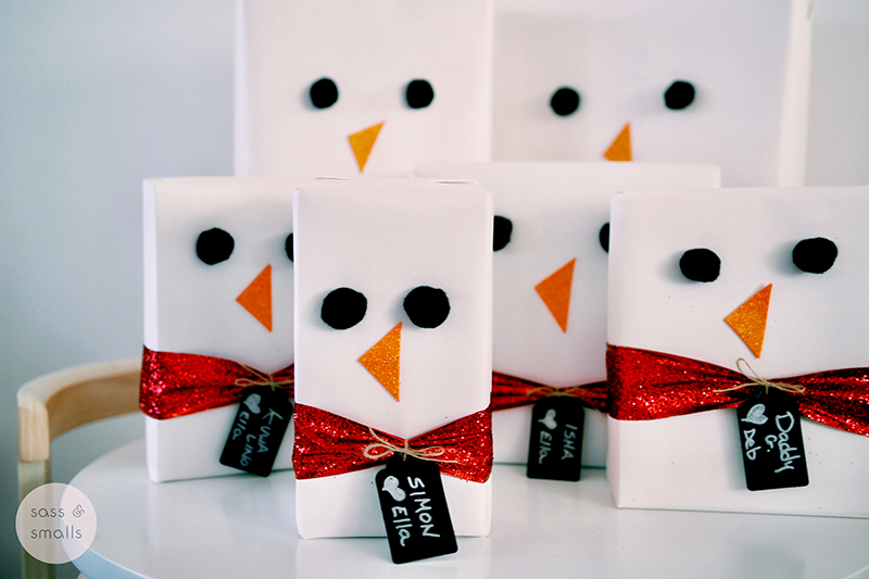 Frosty The Snowman Gifts :: A Delivery by Frosty the Smallie www.sassandsmalls.com